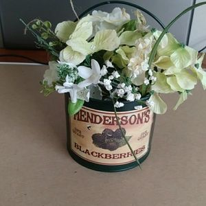 Other - Green tin bucket